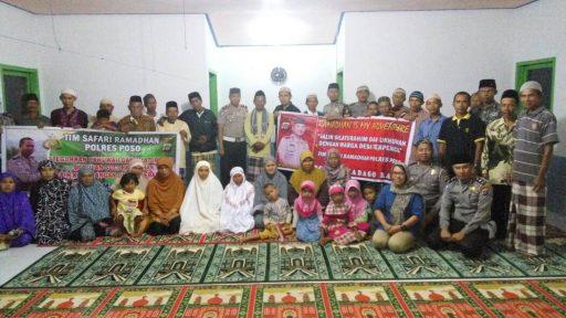 Polantas Poso Madago Raya, Lakukan Safari Ramadhan ke Lokasi Transmigrasi