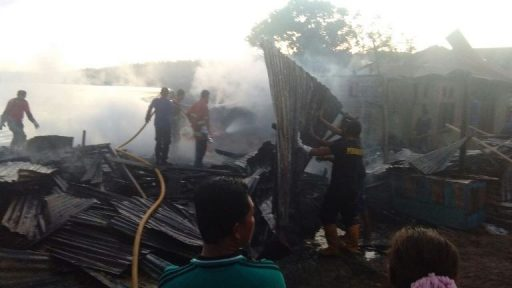 Tabung Gas Meletup, Tujuh Rumah Warga di Poso Terbakar