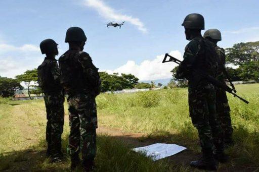 Pasukan TNI di Satgas Tinombala Poso Intai DPO Dengan Drone