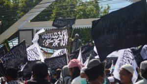 Ratusan Massa Aksi Bela Tauhid Padati Depan Kantor DPRD Sulteng