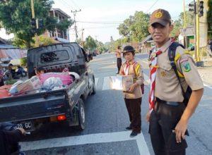 Kepedulian Anggota Saka Bhayangkara Poso untuk Korban Gempa Sulteng