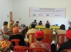 AMAN Gelar Workshop Pengakuan Perlindungan Hak Hukum Adat Lore