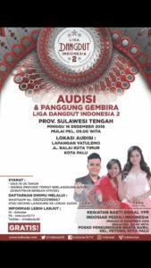 Besok Audisi Liga Dangdut Indonesia di Palu, Target Rekor Muri