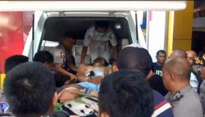 VIDEO : Dua Anggota Polisi Korban Penembakan OTK Dievakuasi ke Palu