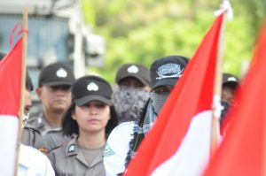 Nilai Pemilu Curang, Ratusan Massa Datangi Kantor Bawaslu Sulteng