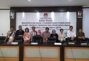 Rapat Pleno Tingkat Kabupaten Poso dan Provinsi Sulteng Berjalan Jurdil, Aman dan Damai