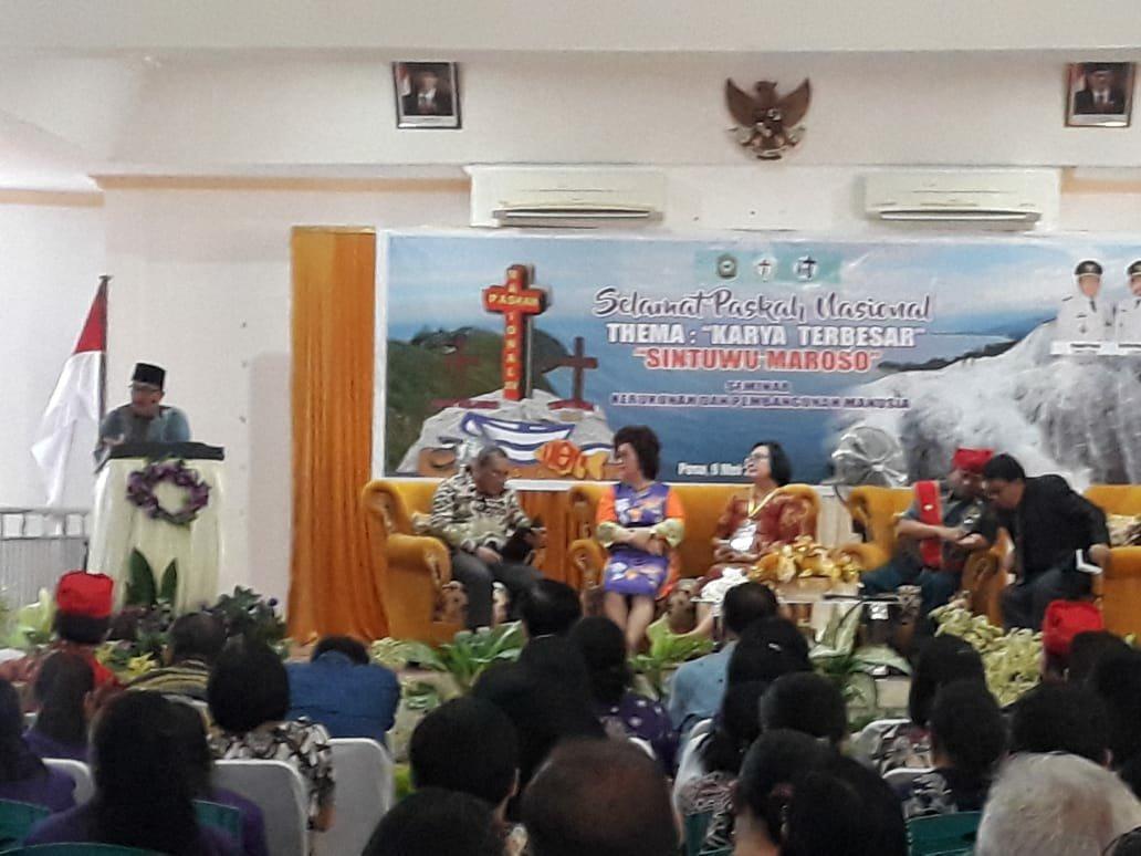 Ketua MUI Palu Prof Dr H Zainal Abidin MAg menjadi salah satu pembicara pada seminar kerukunan dan pembangunan manusia dalam rangka perayaan Paskah Nasional di Kabupaten Poso, Kamis