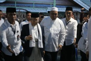 Ketum MUI KH Ma'ruf Amin Tiba di Palu