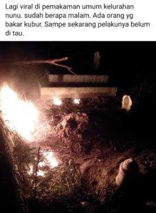 Aksi Pembakaran Makam, Gegerkan Warga Kelurahan Nunu
