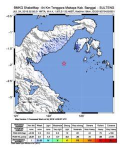 Sejak Januari Hingga Juni 2019, Sulteng Diguncang 663 Kali Gempa