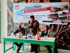 Diskusi Publik Penyebab Banjir Bandang di Morowali, Ada Upaya Pemda Terkait Tuntutan Masyarakat