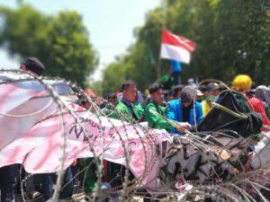 Aksi Demo Tolak RUU KUHP di Palu Ricuh