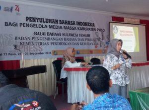 Balai Bahasa Minta Wartawan Harus Gunakan Bahasa Indonesia yang Benar