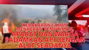 VIDEO: Aparat dan Warga Berjibaku Padamkan Api di Kebakaran Lahan Tojo Barat