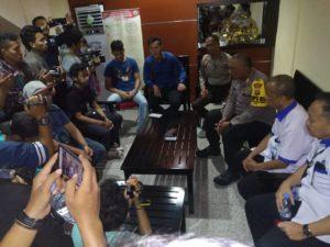 AJI Palu, IJTI Sulteng, PFI Palu, APFI Palu dan Forum Pemred Sulteng Minta Polisi Perampas Kamera Jurnalis TVRI Dihukum