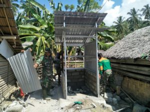 Satgas TMMD Bangun 28 Unit Jamban di Tinombo