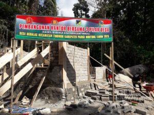 Pembangunan Kantor Tiga Pilar di Desa Ogoalas Terus Dipacu