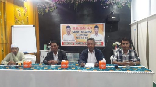 Dua Karyawan Bank Daerah Deklarasi Maju Pilgub Sulteng Jalur Perseorangan