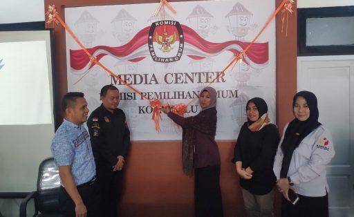 Untuk Kemudahan Informasi Pilkada, KPU Palu Launching Media Center dan Website