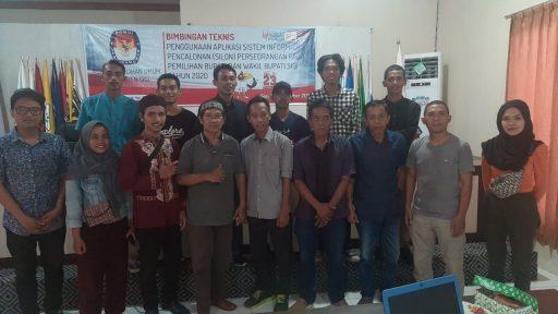 KPU Sigi Gelar Bimtek Silon untuk Bakal Paslon Perseorangan