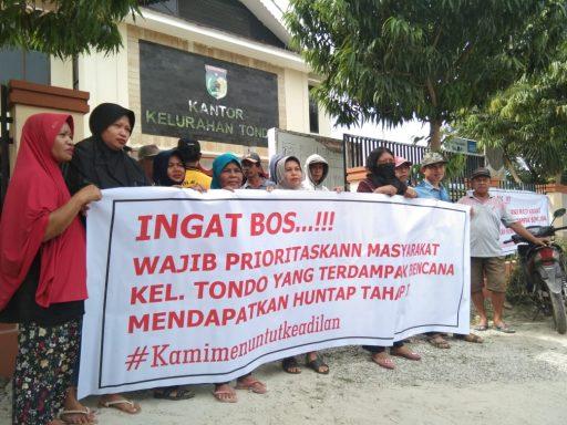 Merasa Tidak Diprioritaskan di Huntap, Warga Tondo Ancam Segel Kantor Kelurahan