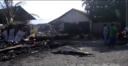 VIDEO : Kebakaran di Palu, Satu Orang Tewas Terpanggang