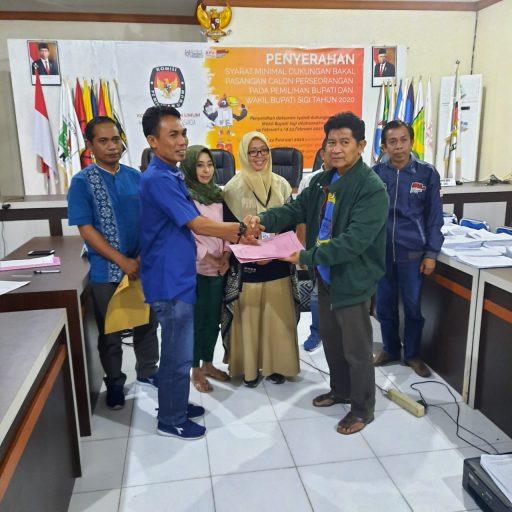 KPU Sigi Nyatakan Pasangan Ilyas Nawawi dan Uhut Hutapea Memenuhi Syarat Calon Perseorangan