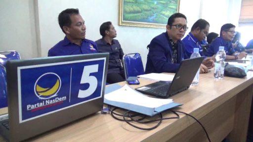 Persiapkan Mandat Rusdy Mastura, DPW NasDem Sulteng Gelar Pra Rakerwil