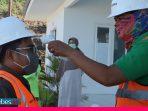 Cegah Corona, Karyawan dan Tamu CPM Disemprot Disinfektan