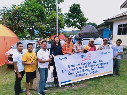Peduli Sesama, BRI Cabang Poso Salurkan Bantuan Korban Banjir Lengkeka