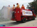 CPM Semprot Disinfektan di Lima Kelurahan di Palu