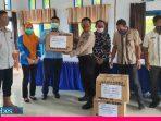 Pencegahan Wabah Covid-19, PT. Transon Group Bantu Masker di Bungku Selatan