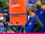 NasDem Sulteng Pasang Tandon Air untuk Cuci Tangan di 22 Titik di Palu