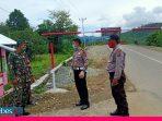 Kasat Lantas Polres Banggai Pantau Pos Perbatasan di Toili Barat