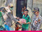 Cegah Penyebaran Covid-19, Kapolres Morowali Bagikan Nasi Kotak ke Masyarakat
