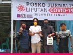 BPTP Sulteng Donasikan Desinfektan dan Hand Sanitizer bagi Jurnalis Peliput Covid-19