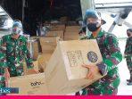 Diangkut Hercules, Sulteng Kembali Terima APD 78 Koli Bantuan Kemenkes RI