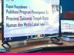 Teleconference Bersama Humas di Sulteng, KPK Minta Anggaran Penanganan Covid-19 dan Bansos Diawasi