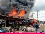 Delapan Lapak dan Satu Ruko di Bahodopi Ludes Terbakar, Kerugian Materi Sekitar Rp1,5 Miliar