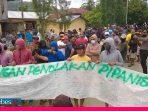 Ratusan Warga dua Desa Tolak Pipanisasi dari Sungai Paneki untuk Huntap Pombewe