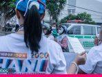 BNN Sulteng Kampanyekan Bahaya Narkoba dengan Berbagi Bunga dan Stiker Kepada Masyarakat