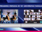 Wisuda 101, Pertama Kali dalam Sejarah UNTAD Palu Gelar Wisuda Secara Online