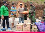 Peduli Sesama, Koramil Pendolo Serahkan Bantuan Untuk Warga Korban Kebakaran