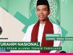 Besok Silaturahim Nasional Virtual IKA FT Untad, Tausyiah Ustad Abdul Somad