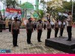 Kapolres Morowali Pimpin Upacara Kenaikan Pangkat 16 Personel