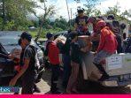 Tiba di Masamba, Relawan Gabungan Pecinta Alam Parimo Distribusikan Bantuan dan Bhaksos