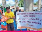 PT CPM  Salurkan Hewan Kurban di Lima Kelurahan di Palu