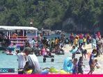 Pantai Tanjung Karang Donggala Ramai Dikunjungi Warga di Tengah Pandemi Corona