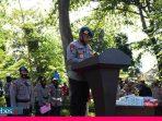 Polda Sulteng Kampanyekan Gerakan Pakai Masker dan Bagikan 400.000 Masker