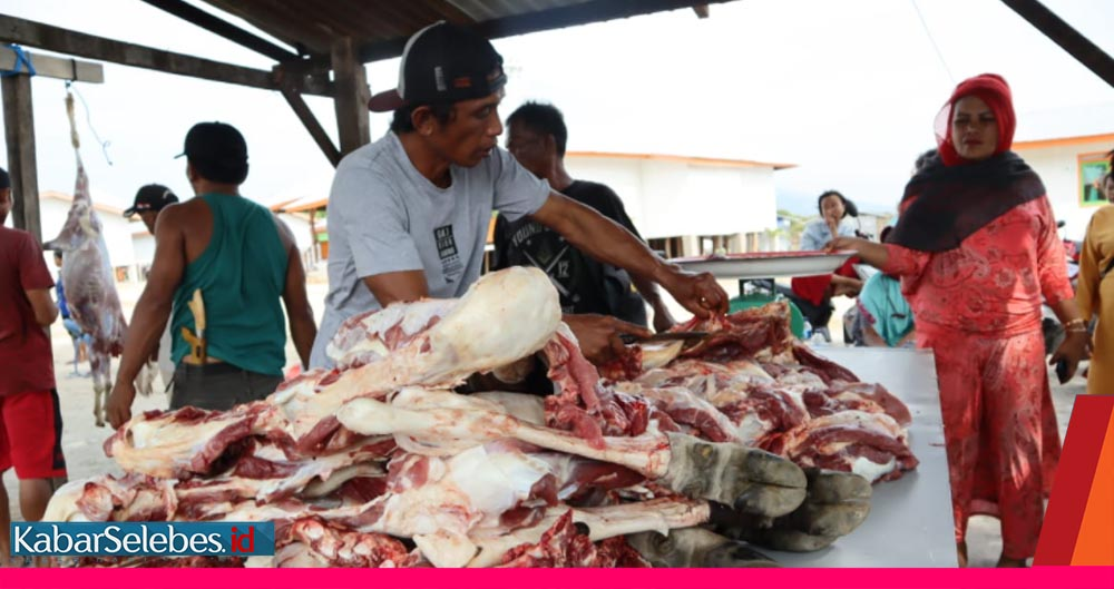 Penjual daging sapi di Palu